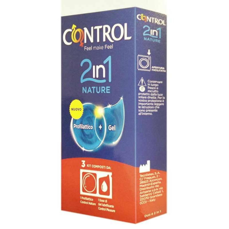 Image of Control 2In1 Nature + Lube Profilattici 3 Pezzi 971299464