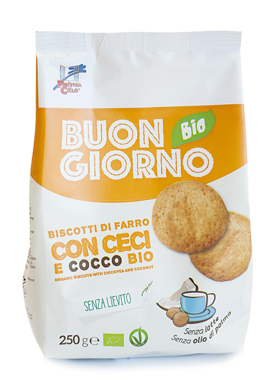 La Finestra Sul Cielo Buongiornobio Biscotti Di Farro Con Ceci E Cocco Senza Lievito Bio 250g