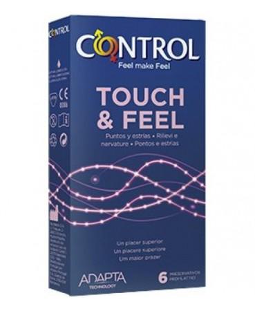 Image of Control 2in1 Touch&Feel + Lube Profilattici 3 Pezzi 971650813