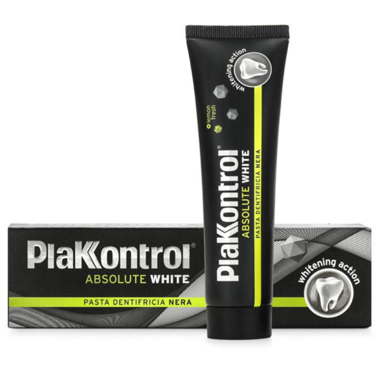 Image of Plakkontrol Absolute White Pasta Dentifricia Nera 75ml 971681818