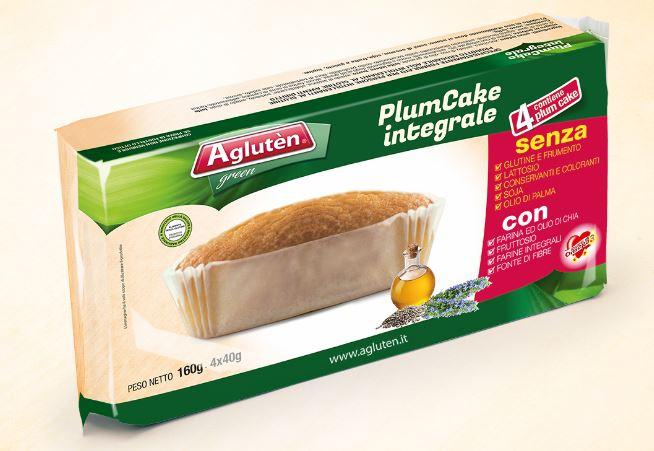 Image of Agluten Plum Cake Integrale Senza Glutine 160g 971953548