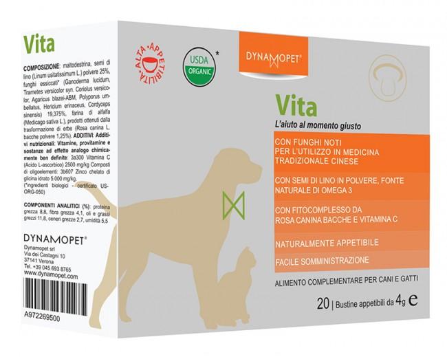 Image of Dynamopet Vita L'aiuto al Momento Giusto Integratore Alimentare 20 Bustine x4g 972269500