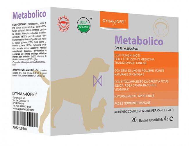 Image of Dynamopet Metabolico Grassi e Zuccheri Integartore Alimentare 20 Bustine x4g 972269548