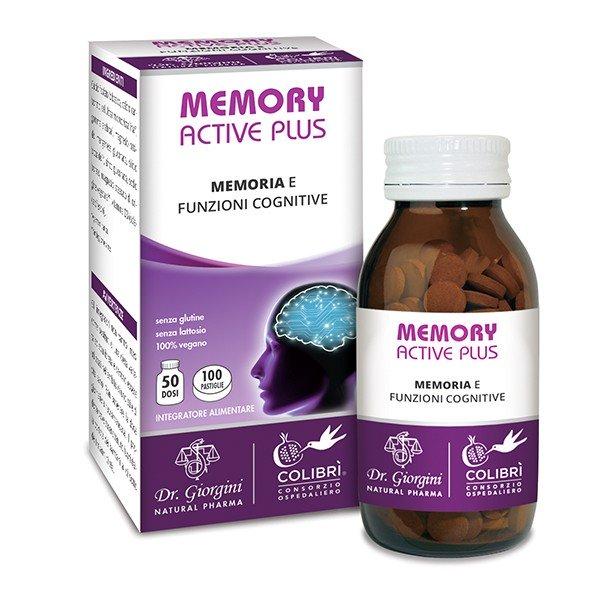 Image of Dr. Giorgini Memory Active Plus Integratore Alimentare 100 Pastiglie 972533335