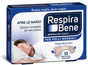 Image of GSK Respira Bene Bretelline Nasali Classiche 10 Cerotti 972708756