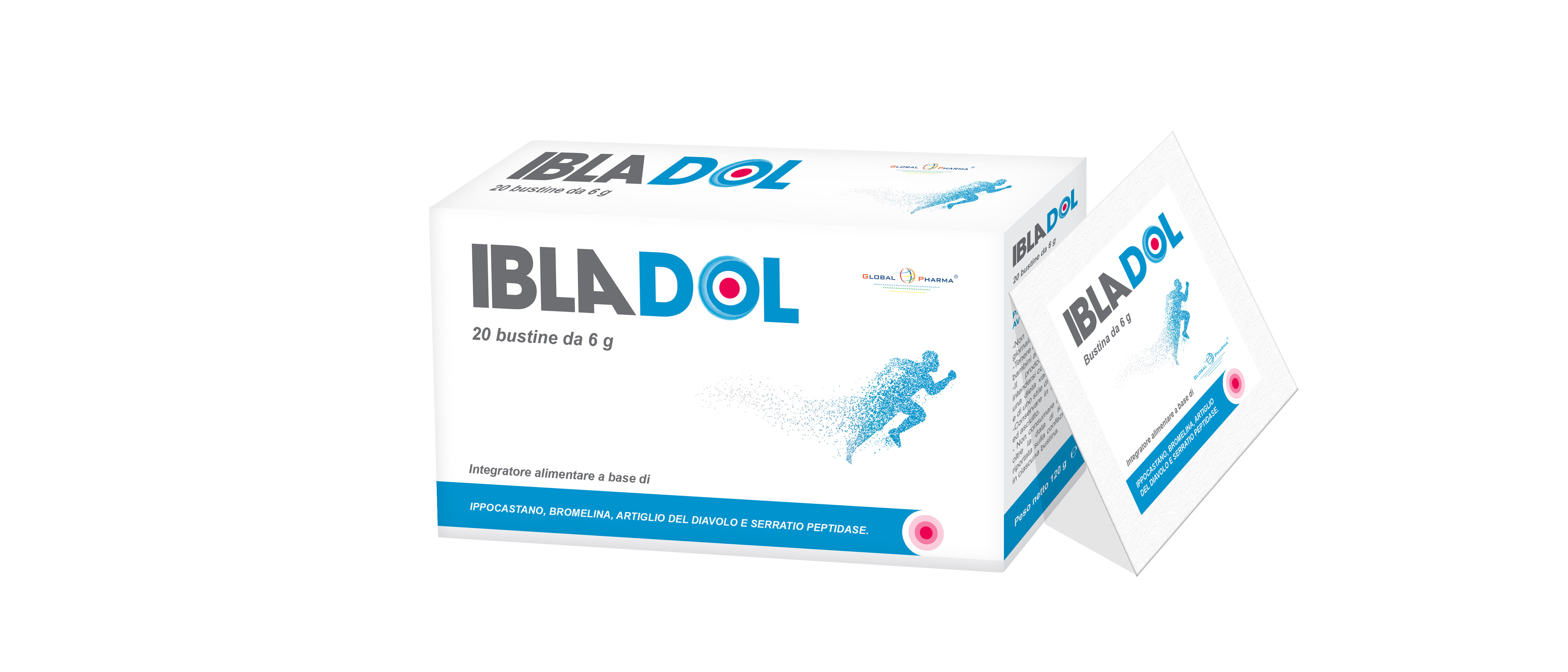 Image of Global Pharma Ibladol Integratore Alimentare 20Bustine 972730562