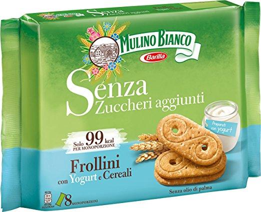 Mulino Bianco Biscotti Frollini con Yogurt e Cereali 200g