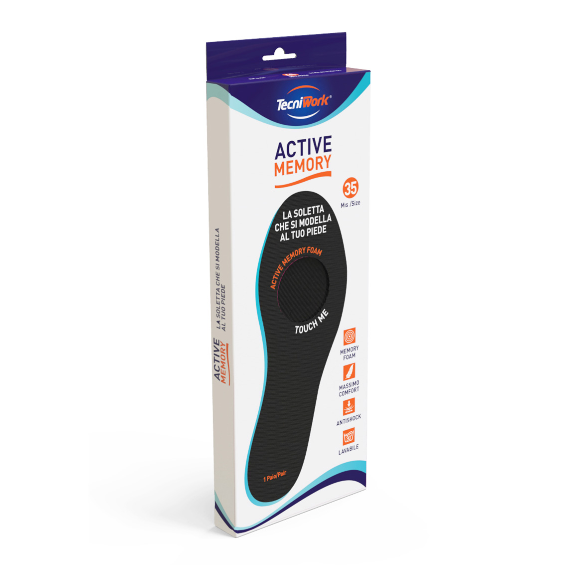 Image of Active Memory Soletta con Tecnologia Memory Foam Taglia 38 973339043