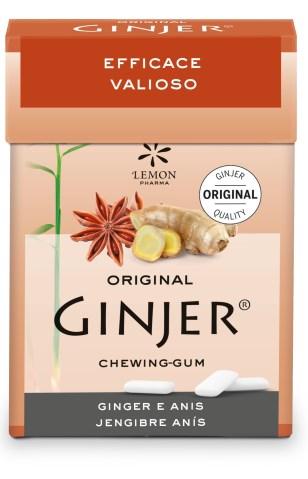 Lemon Pharma Original Ginjer® Chewing Gum Gomme Da Masticare Zenzero & Anice 30g