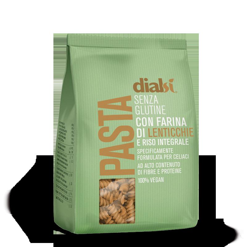 Image of Dialsi Fusilli Pasta Con Farina Di Lenticchie E Riso Integrale Senza Glutine 240g 973605355