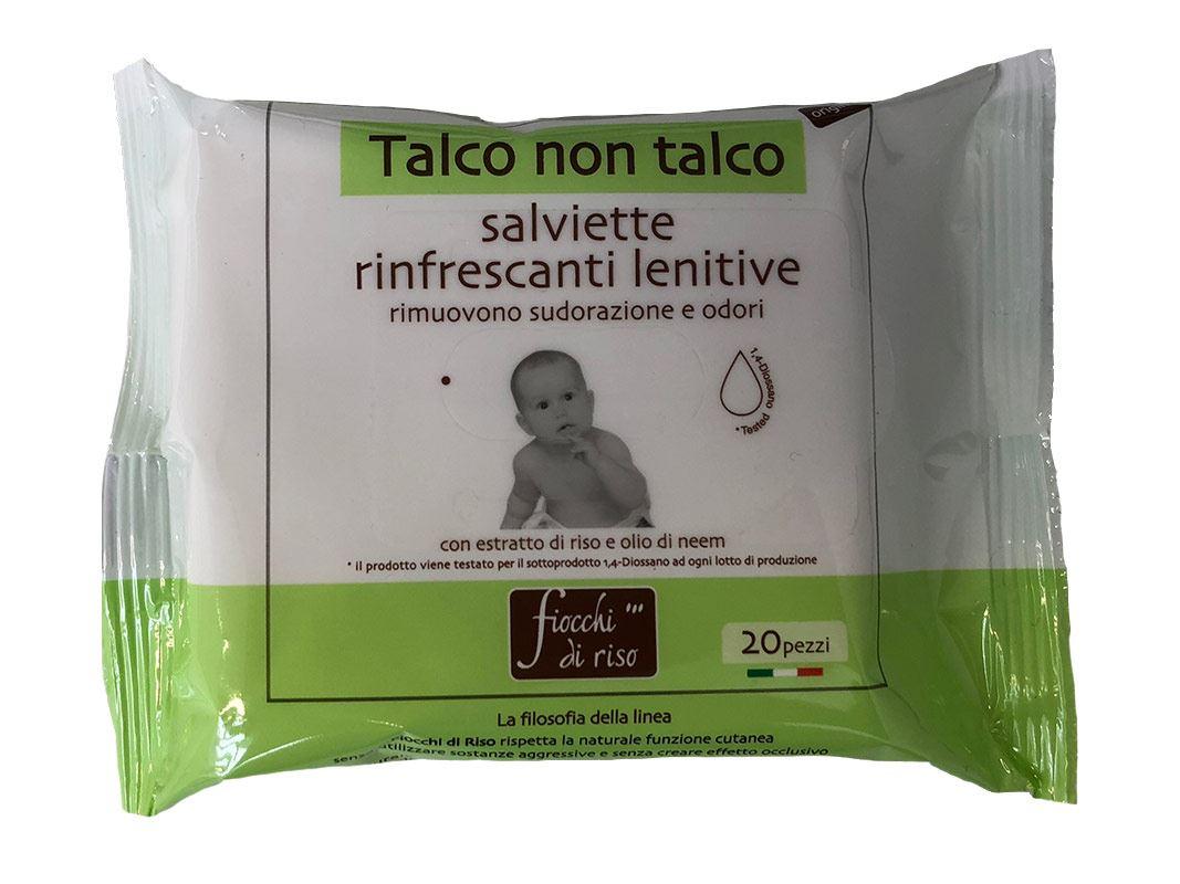 Image of Fiocchi Di Riso Talco Non Talco Salviette Rinfrescanti Lenitive 20 Salviette 974058923