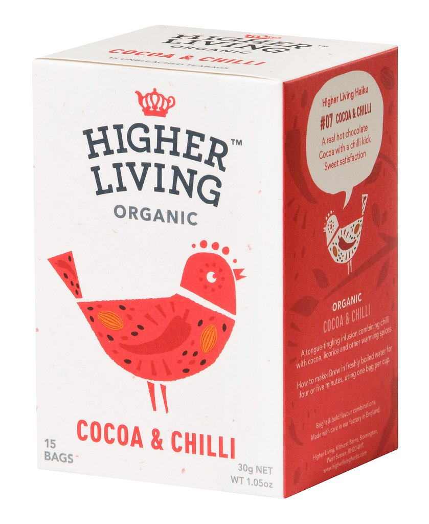Image of Higher Living Infuso Bio Cacao/Peperoncino 15 Filtri 974387692
