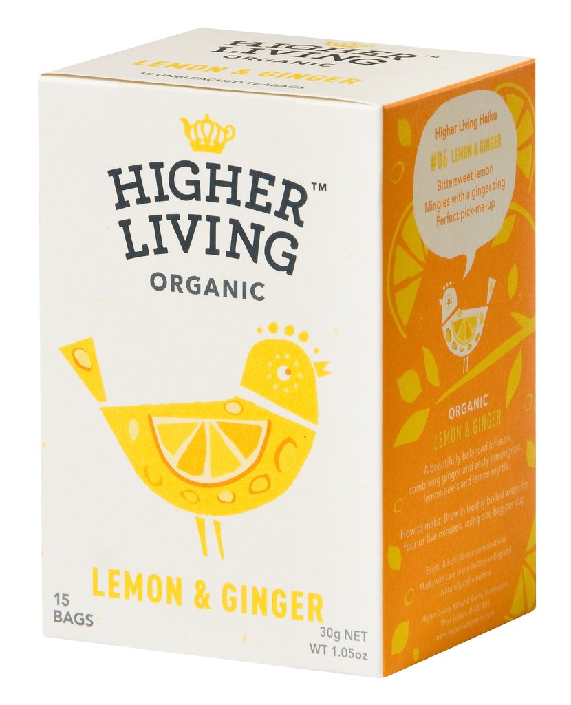 Image of Higher Living Infuso Bio Limone/Zenzero 15 Filtri 974387728