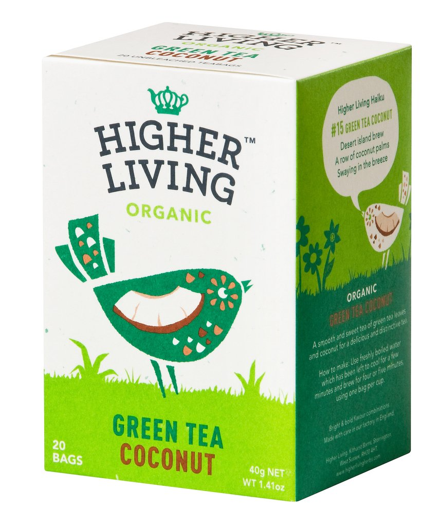 Image of Higher Living Infuso Bio The Verde Cocco 20 Filtri 974387829