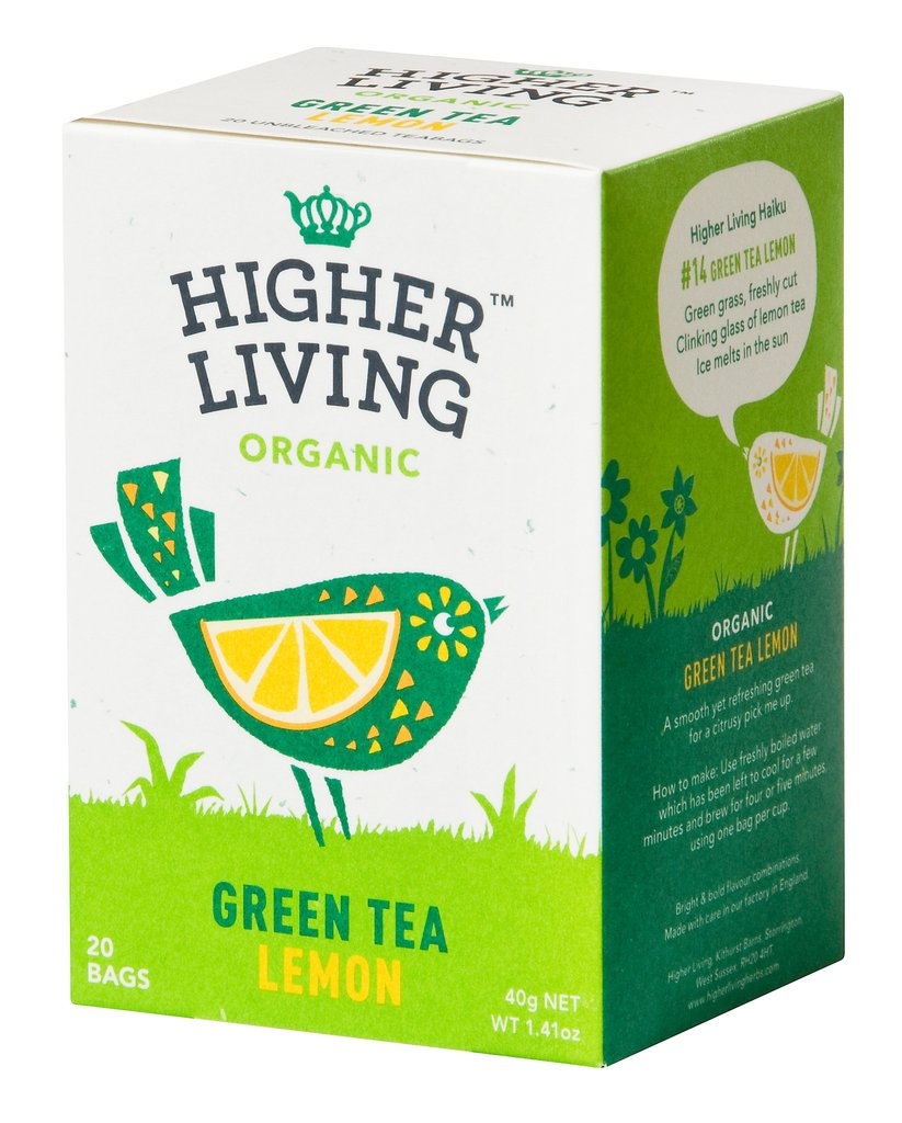 Image of Higher Living Infuso Bio The Verde Limone 20 Filtri 974387831
