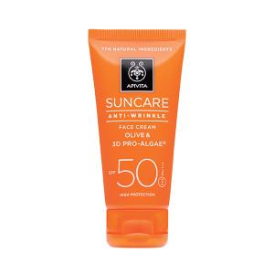 Image of Apivita Suncare Anti Wrinkle Face Cream Spf50 50ml