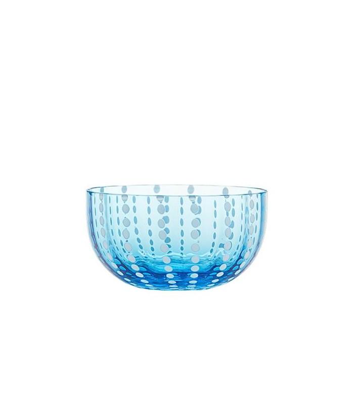 Image of Zafferano Bowl Coppetta Vetro Perle Acquamarina 2 Pezzi 975004920
