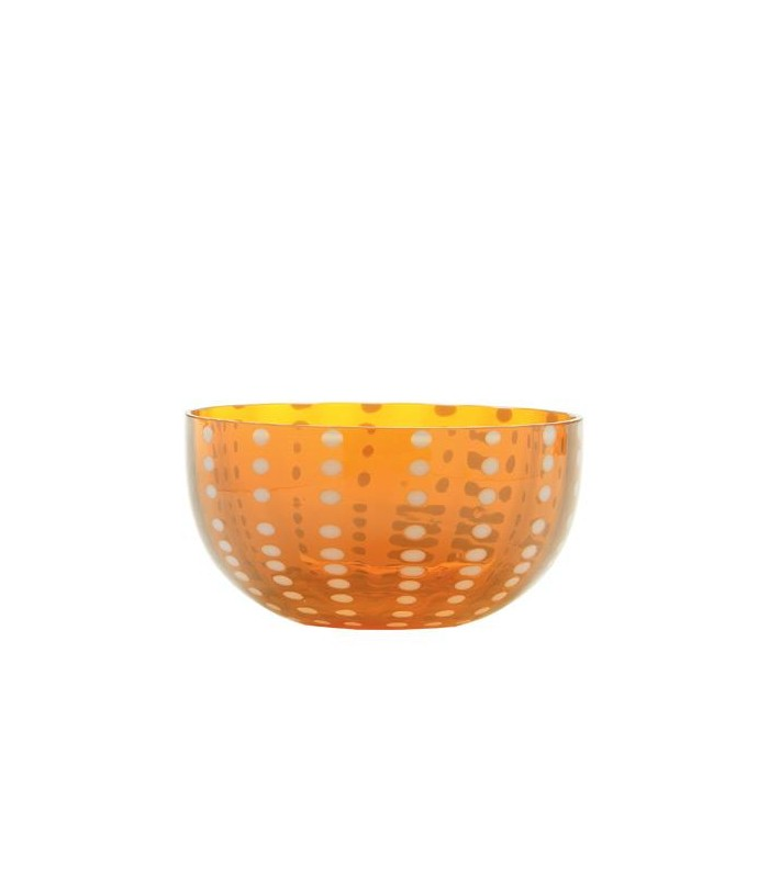 Image of Zafferano Bowl Coppetta Vetro Perle Arancio 2 Pezzi 975004957