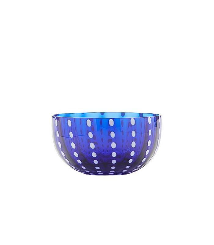 Image of Zafferano Bowl Coppetta Vetro Perle Blu 2 Pezzi 975004969
