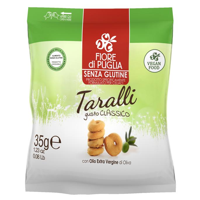 Fiore Di Puglia Taralli Gusto Classico Con Olio Extra Vergine Di Oliva Senza Glutine 35g