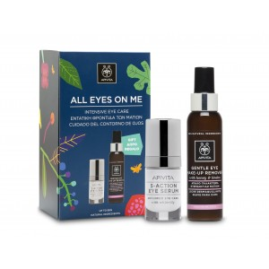 Image of Apivita All Eyes On Me Intensive Care Eye Serum + FREE Gentle Eye-Make-up Remover 976006611