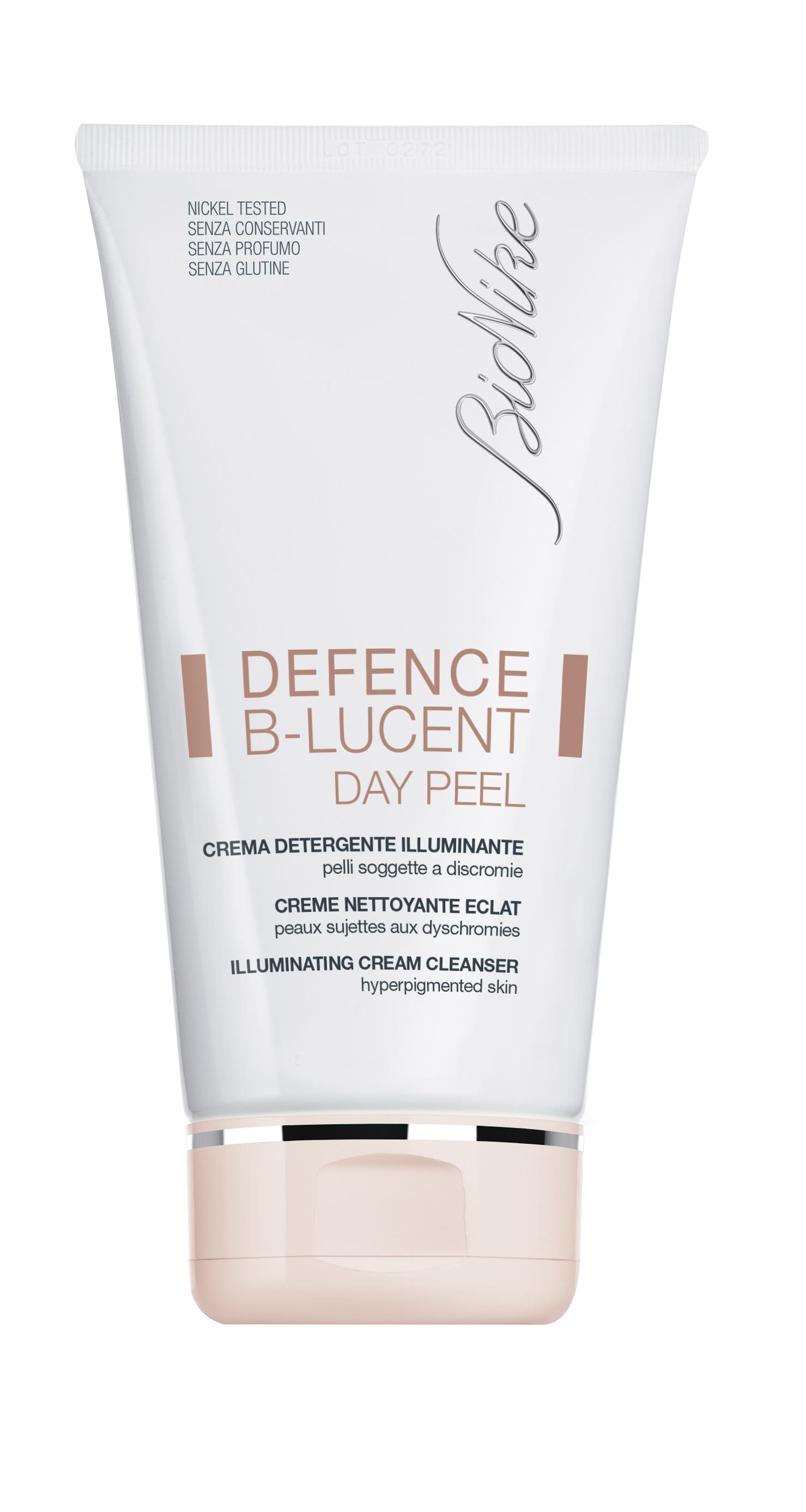 Defence B Lucent Day Peel Crema Detergente Illuminante BioNike 150ml
