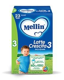 Mellin 3 Latte Crescita Polvere Mellin 700g