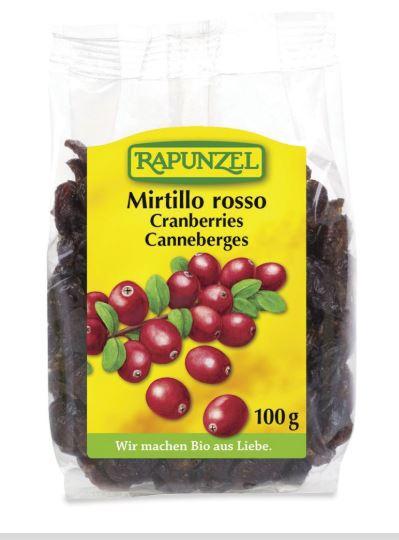 Mirtilli Rossi Disidratati Rapunzel 100g