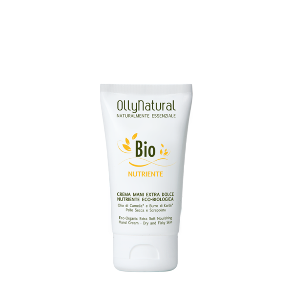 OllyNatural Crema Mani Extra Dolce Nutriente Eco Biologica 75ml