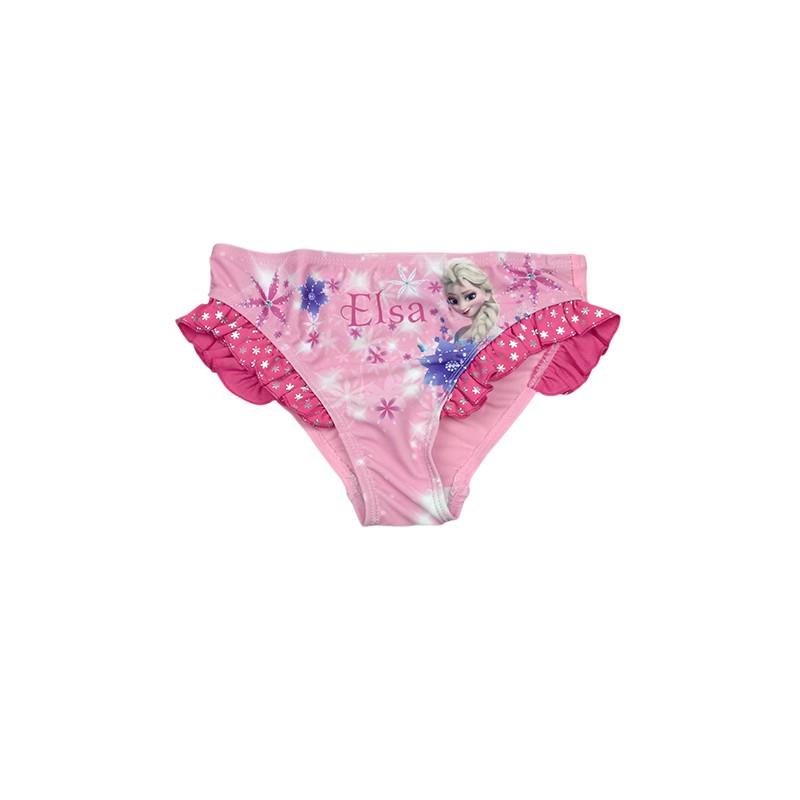 costumino slip costume da bagno bimba bambina disney frozen rosa 5a