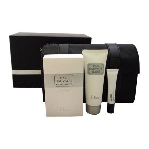 Image of Christian Dior Eau Sauvage Cofanetto Uomo Eau De Toilette 100ml + Gel Doccia 75ml + Balsamo Viso 10ml