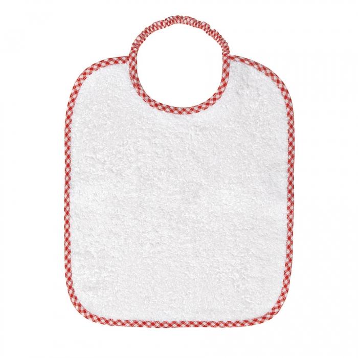 Set bavetta bavaglino + camicia camicina della fortuna bimbo bimba neonato Birillini bianco rosso TU