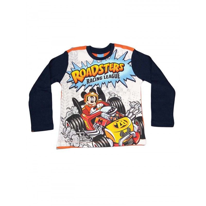 Image of T-shirt maglia maglietta bimbo bambino Arnetta Disney Mickey blu 4A P00191291