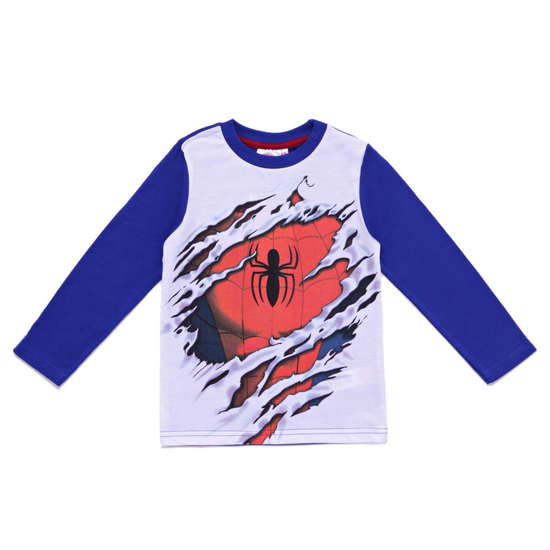 Image of T-shirt maglia maglietta bimbo bambino Arnetta uomo ragno Spiderman grigio blu 4A P00191292