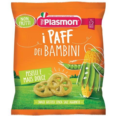 Image of i PAFF DEI BAMBINI Piselli e Mais Plasmon® 15g