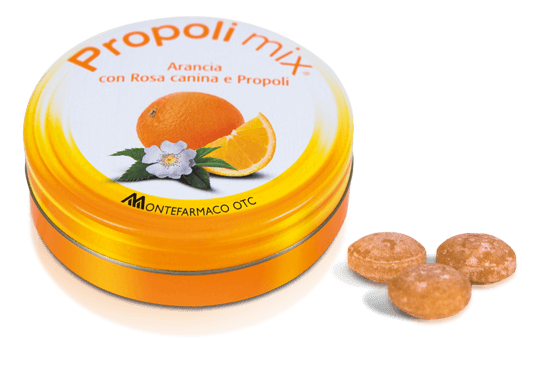 Image of Propoli Mix® Caramelle All'Arancia MONTEFARMACO 30 Caramelle