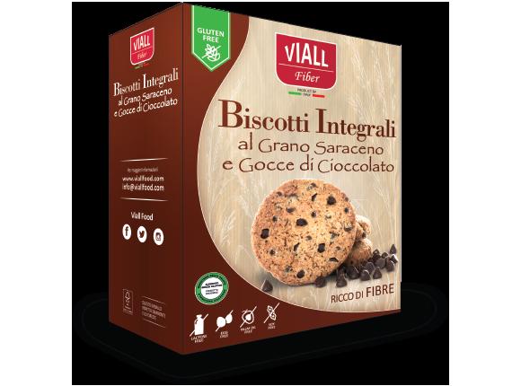 Viall Fiber Biscotti Integrali al Grano Saraceno e Gocce di Cioccolato 200g