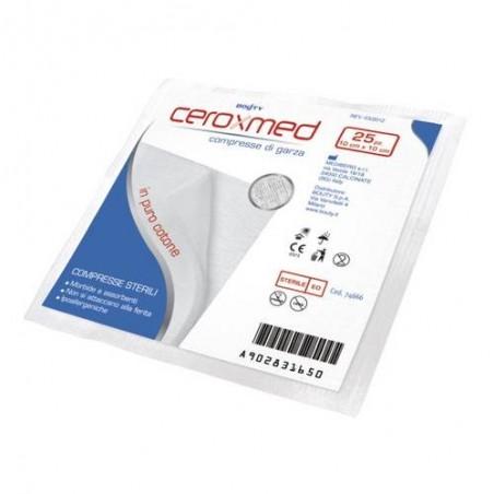 Ceroxmed Compresse Di Garza Puro Cotone IBSA 25 Compresse Sterili 10x10cm