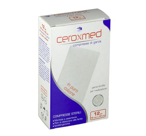Ceroxmed Compresse Di Garza Puro Cotone IBSA 12 Compresse Sterili 18x40cm