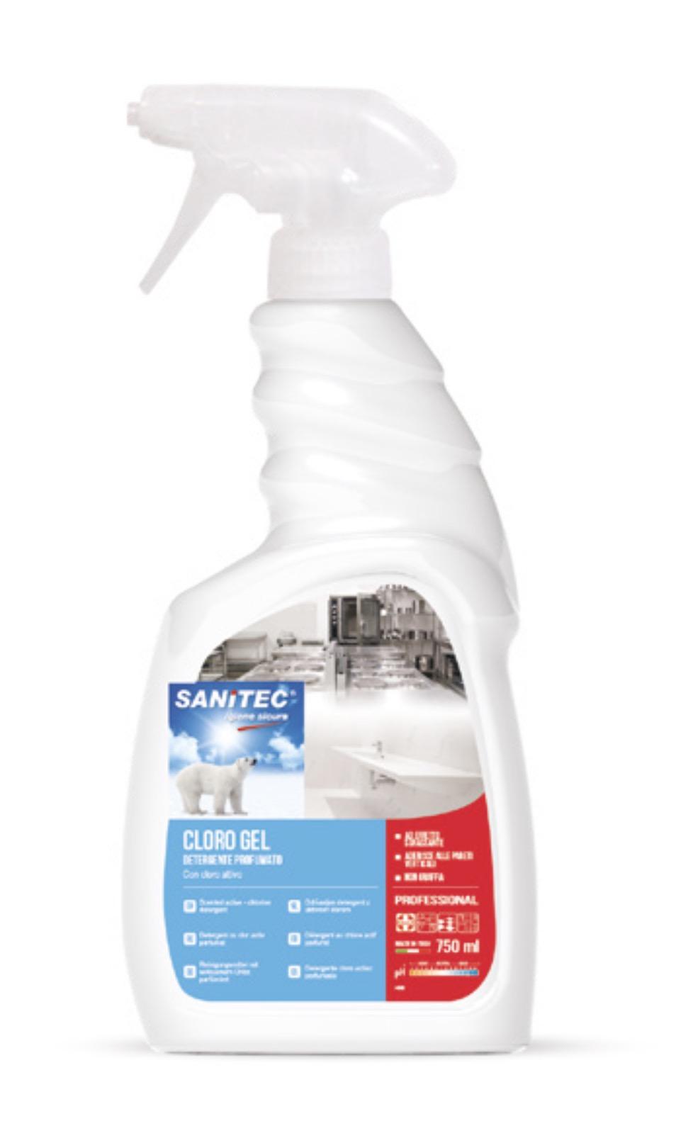 Cloro Gel Detergente Sgrassante,Igienizzante Profumato Con Cloro Sanitec 750ml
