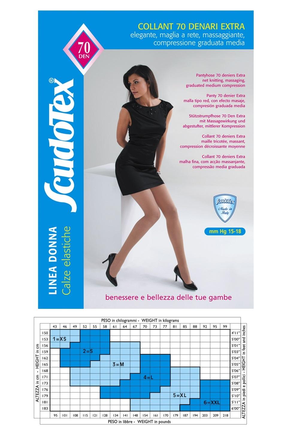 Collant 70 Extra ScudoTex Daino Taglia 6