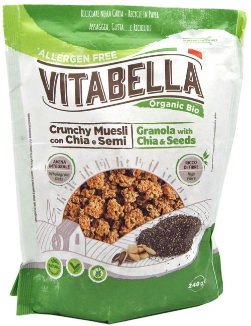 Crunchy Muesli Con Chia E Semi Vitabella 240g