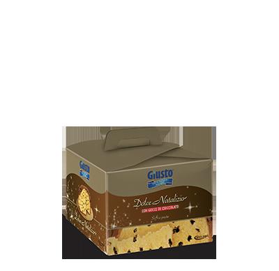 Dolce Natalizio Con Gocce Di Cioccolato Mini Senza Zucchero Giusto 300g