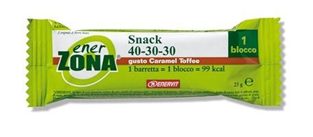 EnerZona Snack 40 30 30 Caramel Tofee Barretta 25g