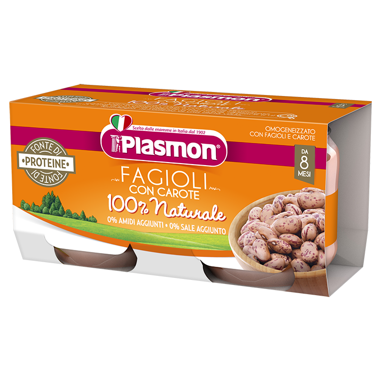 Image of Fagioli Con Carote Plasmon 2x80g