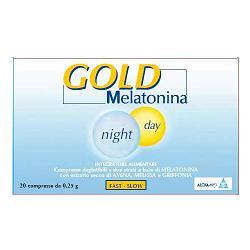 Image of Alcka Med Srl Gold Melatonina Night Day - Integratori 20 Compresse da 0,25 g 933541955