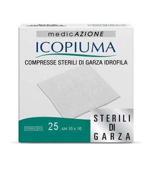 Icopiuma Compresse Sterili Di Garza Idrofila 10x10cm 25Pezzi