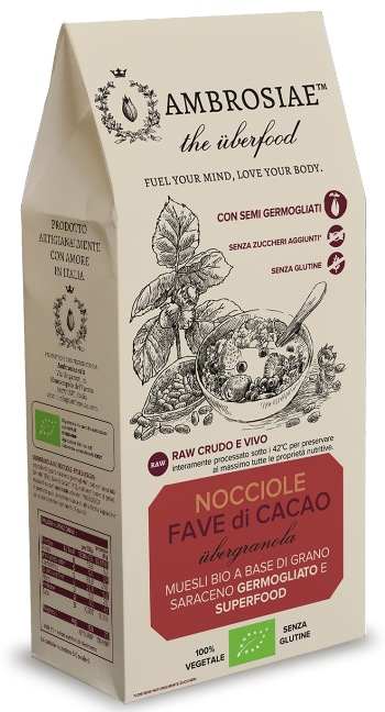 Image of Ambrosiae Ubergranola Nocciole E Fave Di Cacao 250g 973283435