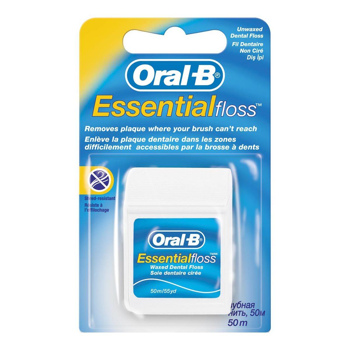 Filo Interdentale Essential Floss Non Cerato Oral B 50m