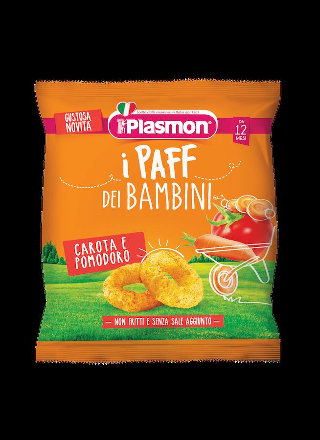 Image of I Paff Dei Bambini Gusto Carota E Pomodoro Plasmon 15g